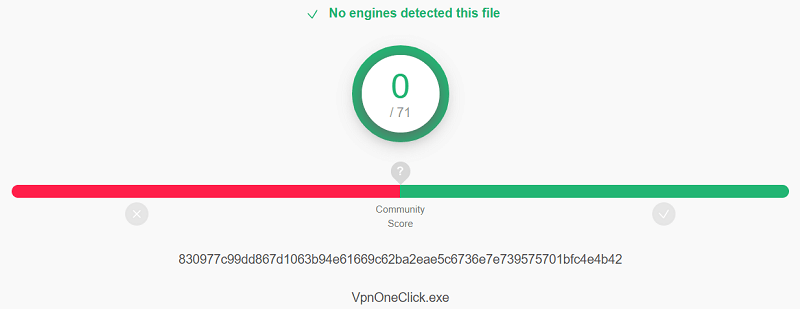 VPN One Click Virus Test