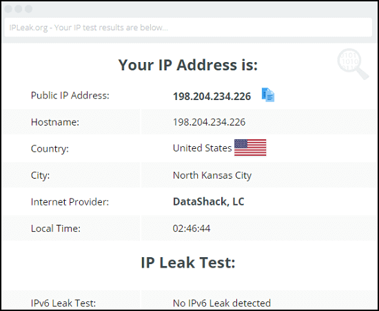 Connecto-VPN-IP-Leak-Test
