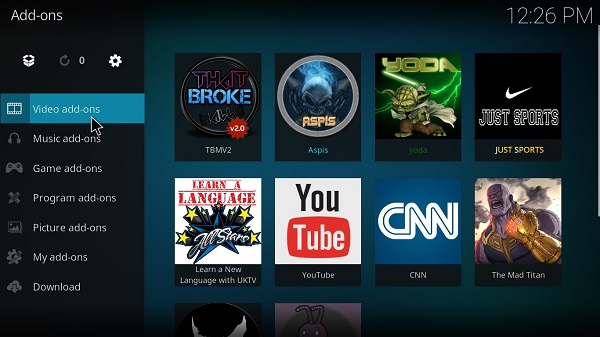 Kodi-on-Android-Add-Addons