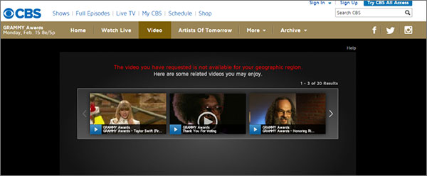 how to watch cbs online outside us