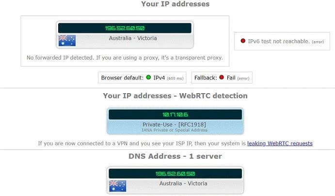 Private-internet access-IPLEAK-Australia