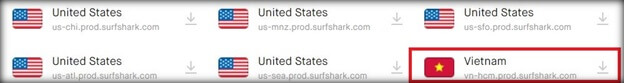 surfshark-server-list-Vietnam