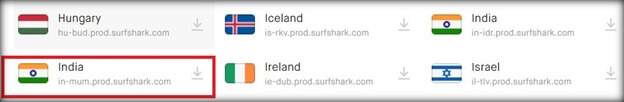 surfshark-server-list-india