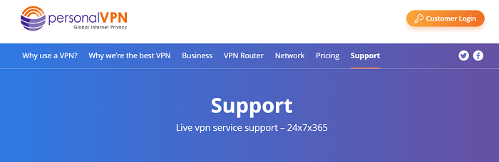Witopia personalVPN Customer Support