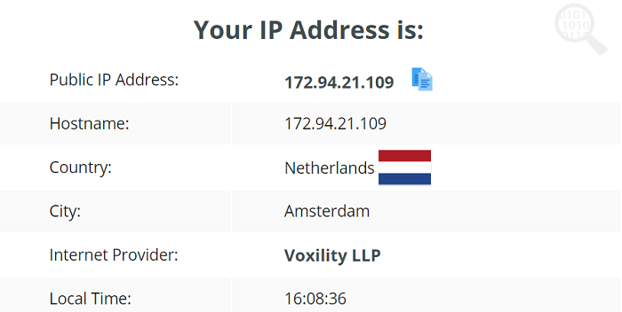ZenVPN IP Leak Test