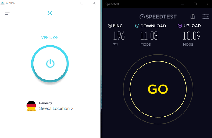 Speedtest-X-VPN-Result