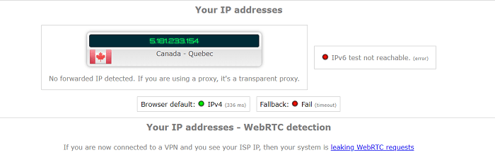 VPN Proxy Master WebRTC Leak Test