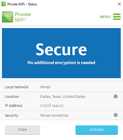 Activate-US-server-Private-Wifi-review