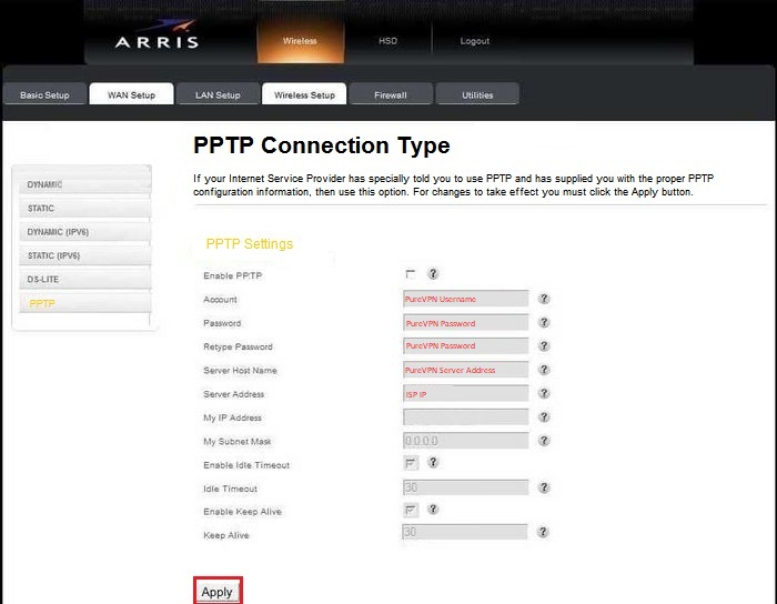 How to Install PureVPN on Arris