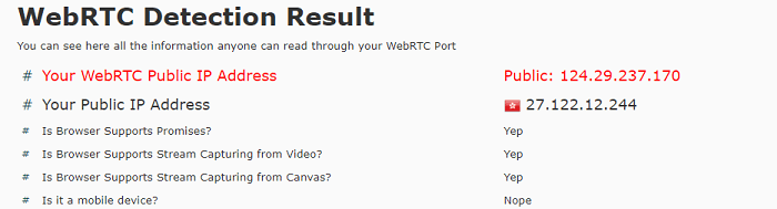 Windscribe-WebRTC-Leak-Test