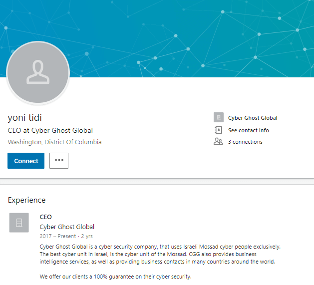 Cyber-ghost-CEO-linkedin-profile