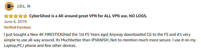 CyberGhost-VPN-user-reviews-on-Amazon-Store-2