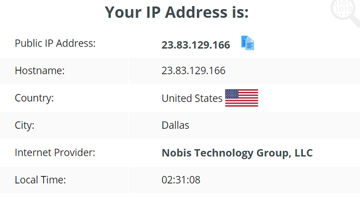 FrootVPN IP Leak Test