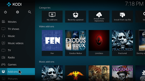 Launch-Kodi