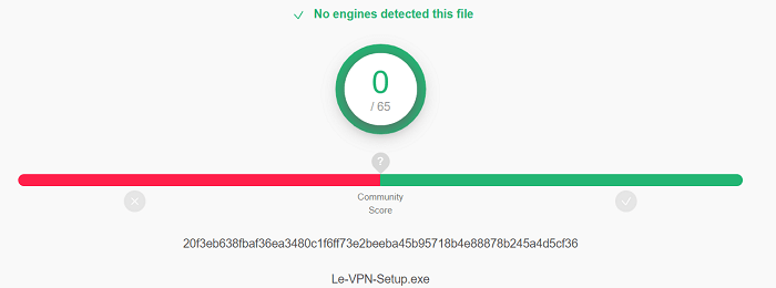 Le-VPN-Virus-Test