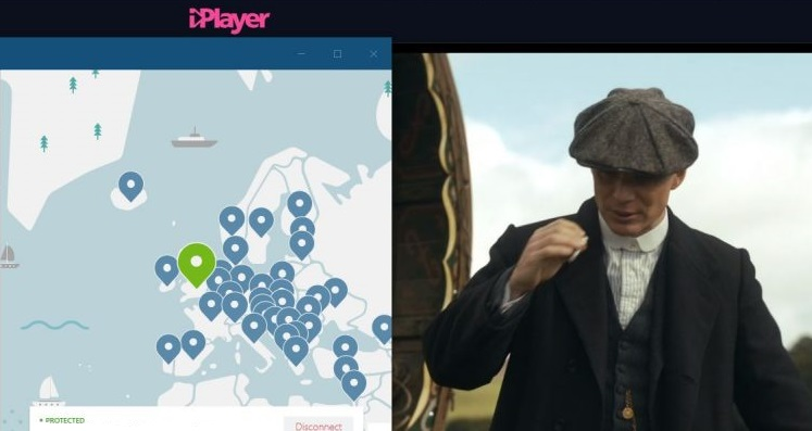 NordVPN Peaky Blinder BBC iPlayer
