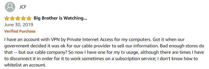 PIA-VPN-user-reviews-on-Amazon-Store