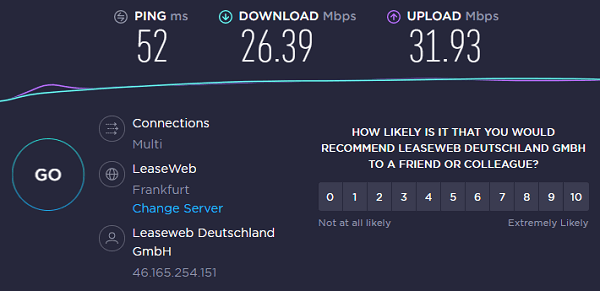 BulletVPN-Frankfurt-server-speed-test