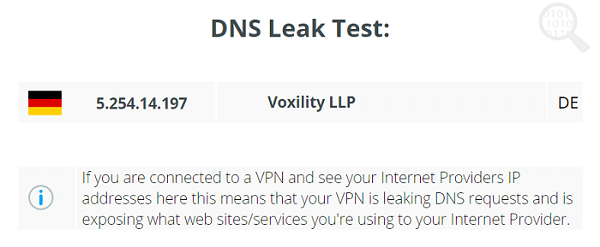 Keenow-VPN-DNS-Leak-Test