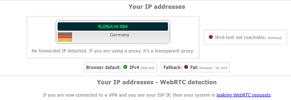 Keenow-VPN-WebRTC-Leak-Test