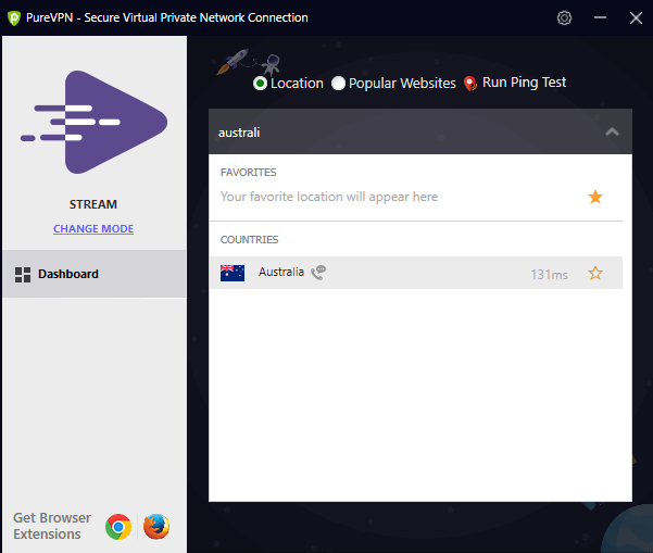 connect to purevpn australia