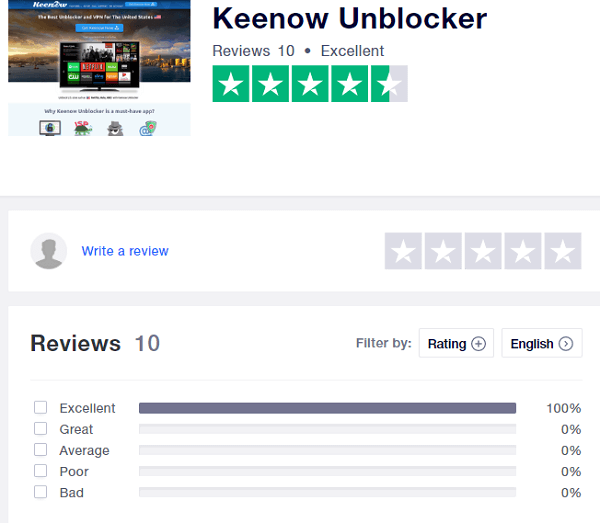 keenow-vpn-trustpilot-rating-and-user-reviews