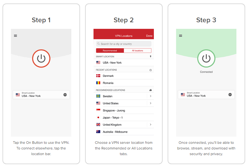 ExpressVPN-iOS-interfaces