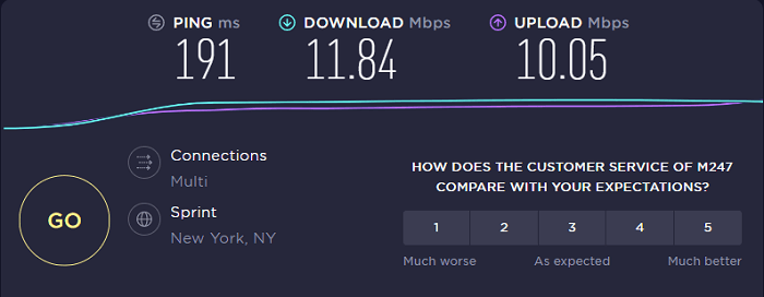 OVPN-Speed-Test-New-York-Server