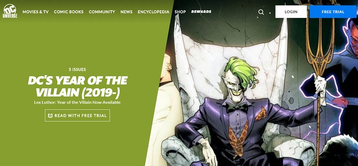DC Universe website