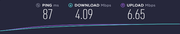 betternet-speed-test-result-Singaporean-server