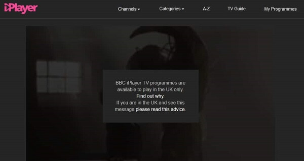 IPVanish-BBC-iplayer-restriction-error
