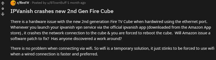 Reddit-Review-IPVanish-Crashes-2nd-Gen-Fire-Cube