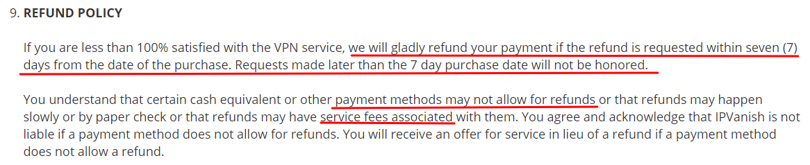 IPVanish-refund-policy
