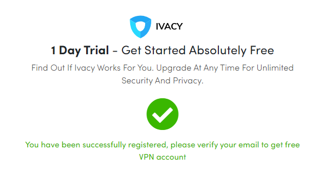ivacy-1-day-completely-free-trial-email-notification-message