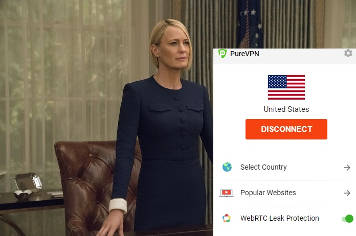 netflix-playing-house-of-cards-while-connected-to-purevpn-2020