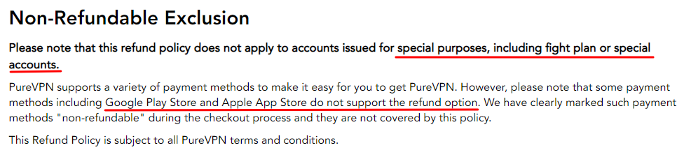 purevpn-refund-policy-exclusions