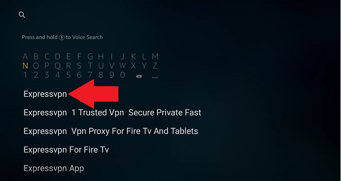 search-for-expressvpn-app-on-the-amazon-store
