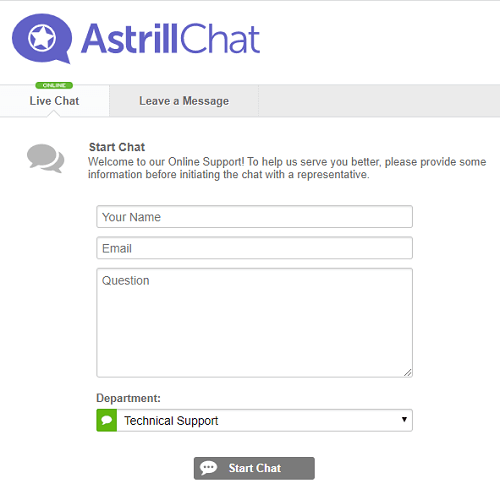 Astrill VPN Live Chat