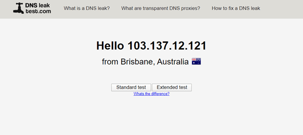 DNS-Leak-Test-Result-of-Namecheap-VPN