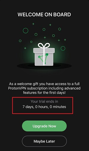 protonvpn-free-trial-upgrade-screen