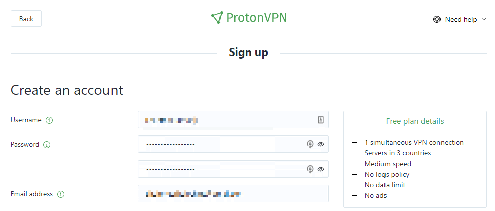 protonvpn-signup-details-screen-for-free-trial