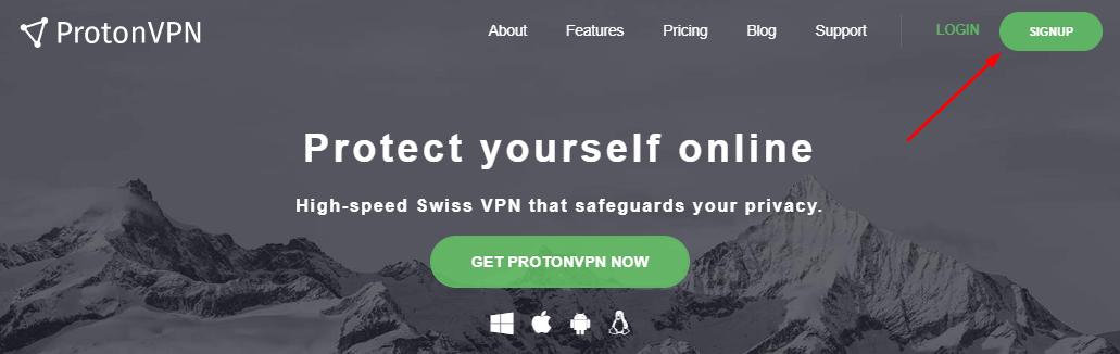 protonvpn-website-free-trial-signup-screen