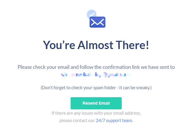 safervpn-free-trial-email-confirmation-screen