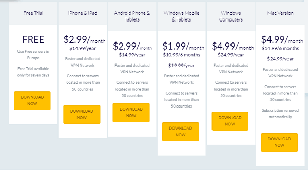 vpn-one-click-pricing-plans
