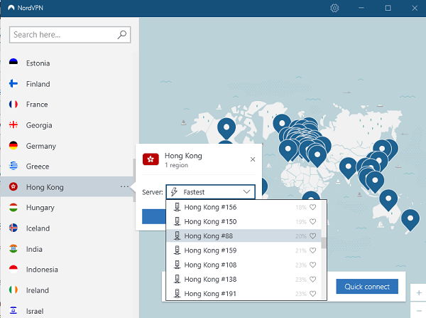 NordVPN Hong Kong Servers to access Chinese Content