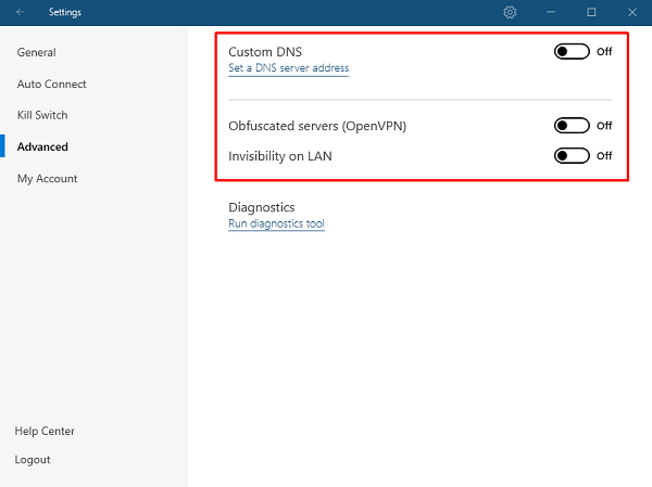 NordVPN obfuscated server role