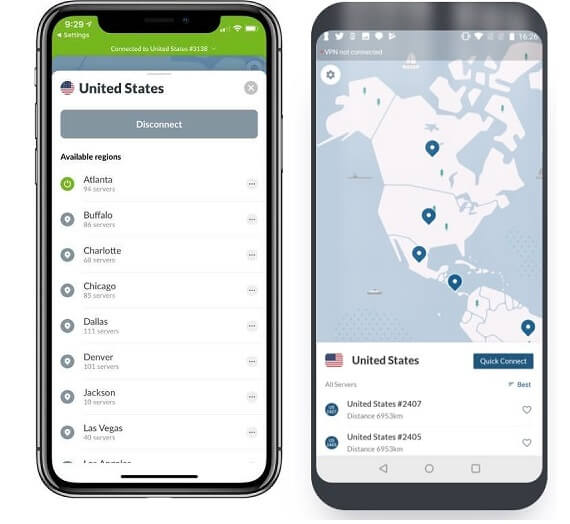 NordVPN for ios and android latest