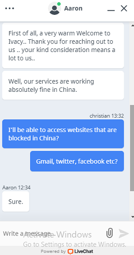 ivacy-live-chat-regarding-availibility-in-China