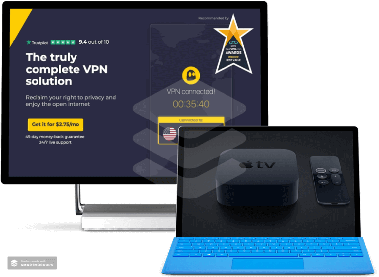 best-vpn-for-apple-tv-cyberghost