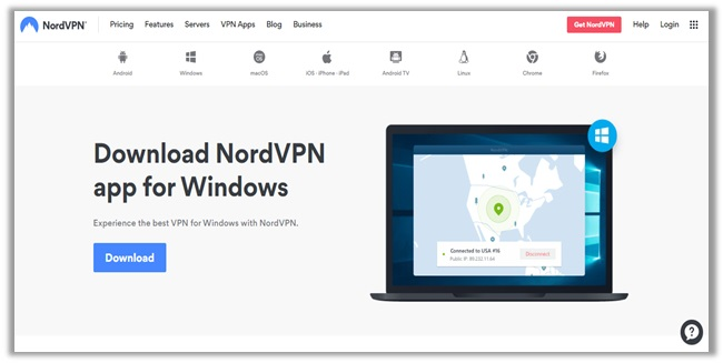 NordVPN-App-Download-page